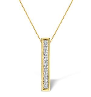 Diamond 0.06ct 9K Gold Initial Pendant - RTC-G3804