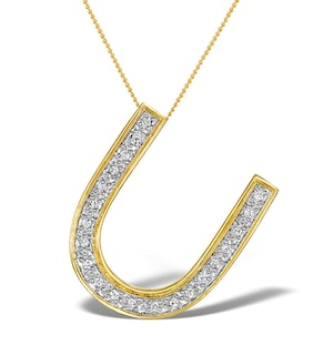 Diamond 0.15ct 9K Gold Initial Pendant - RTC-G3816