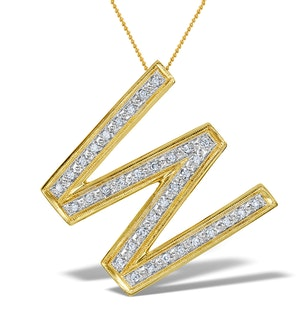 Diamond 0.20ct 9K Gold Initial Pendant - RTC-G3810