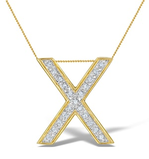 Diamond 0.17ct 9K Gold Initial Pendant - RTC-G3922