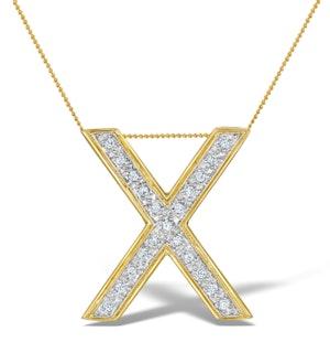 Diamond 0.17ct 9K Gold Initial Pendant - RTC-G3922