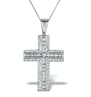 Diamond 0.50ct 9K White Gold Cross Pendant - RTC-G3187Y