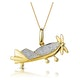 0.02ct Diamond Studded Aeroplane Necklace in 9K Gold - image 1