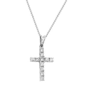 9K White Gold Diamond Value Cross Pendant 0.50ct