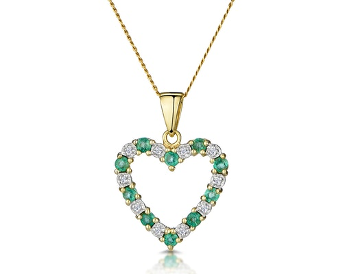 Yellow Gold Heart Pendants And Necklaces