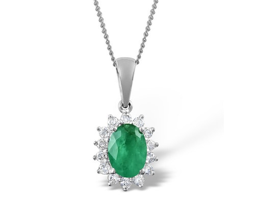 Emerald Cluster Pendants And Necklaces