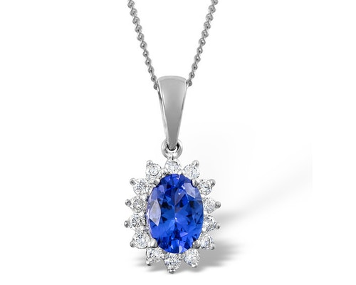 Tanzanite White Gold Pendants And Necklaces