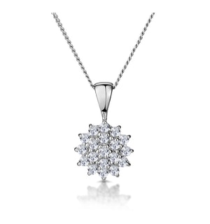 9K White Gold Pendant Necklace With 0.25ct Diamonds