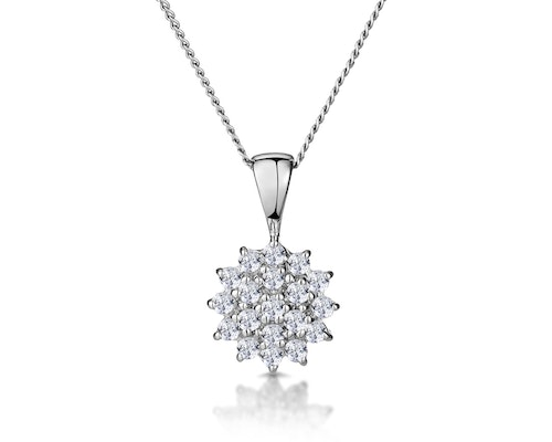 White Gold Diamond Drop Necklaces and Pendants