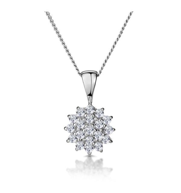 9K White Gold Pendant With 0.25ct Diamonds - image 1
