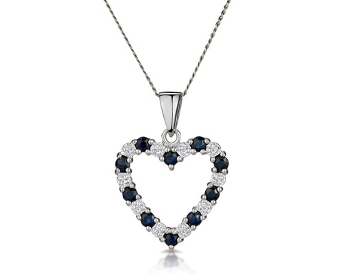 Sapphire White Gold Pendants And Necklaces