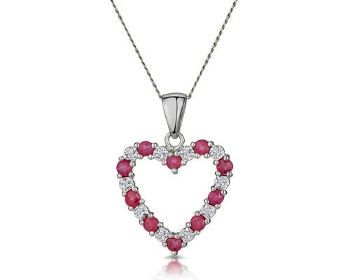 Ruby White Gold Pendants And Necklaces