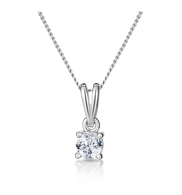 0.25ct Diamond Solitaire Chloe Solitaire Necklace in 9K White Gold - image 1