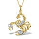 9K Gold Diamond Scorpio Pendant 0.06ct - image 1