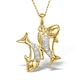 9K Gold Diamond Pisces Pendant 0.05ct - image 1