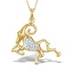9K Gold Diamond Aries Pendant 0.07ct - image 1