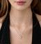 9K White Gold Diamond Pisces Pendant Necklace 0.05ct - image 2