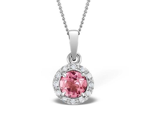 Pink Tourmaline Pendants