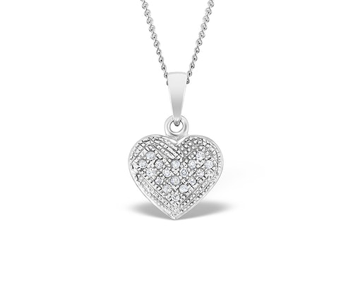 Pave Set Diamond Necklaces and Pendants