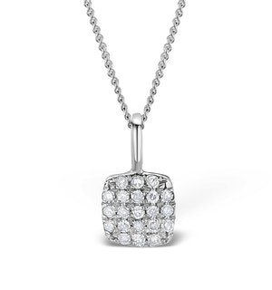 0.33ct Diamond and 9K White Gold Daisy Pendant -  G4043