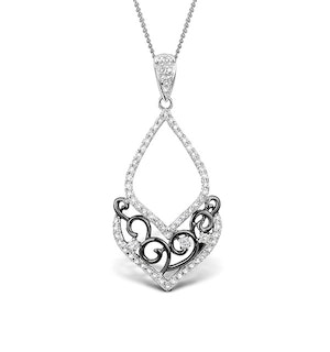 0.28ct Diamond and 9K White Gold Pendant - G4048