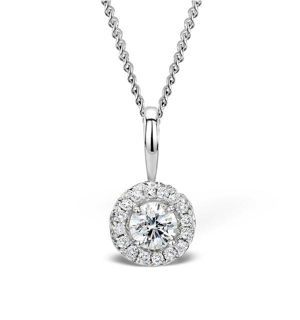 Ella 0.34ct Diamond and 9K White Gold Pendant - G4057 - image 1