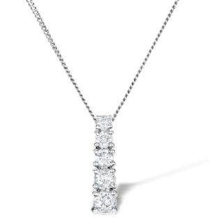 5 Stone Drop 0.33ct Lab Diamond and 9K White Gold Pendant G4066