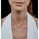 Allura Collection Key Diamond Pendant 0.07ct in 9K White Gold - image 2