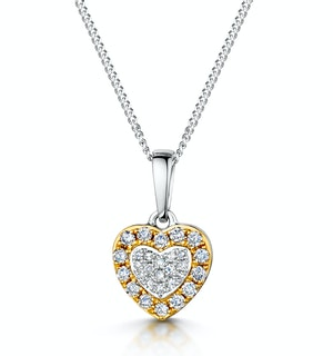 Diamond Stellato Pendant in 9K White Gold