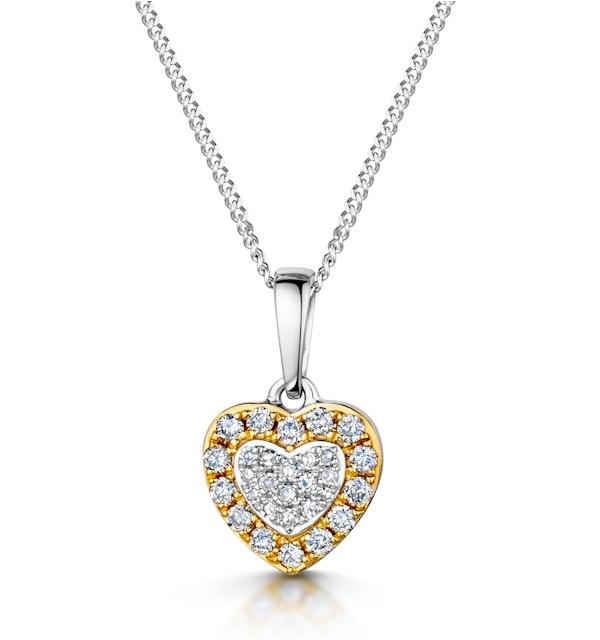 Diamond Stellato Pendant in 9K White Gold - image 1