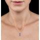 Rhodolite Pink Sapphire Diamond Stellato Heart Pendant 9K White Gold - image 2