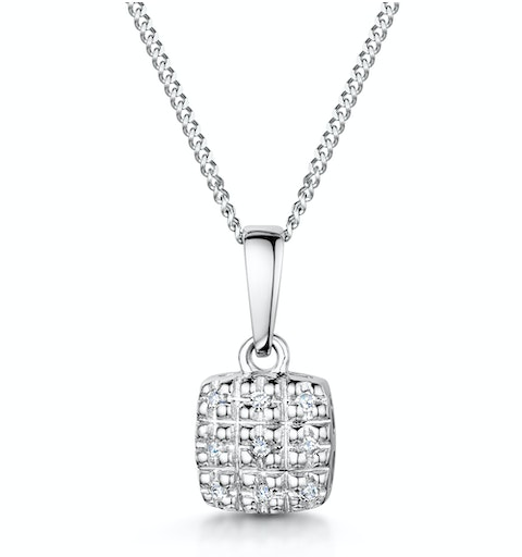Stellato Collection Diamond Pendant in 9K White Gold - G4093 - image 1