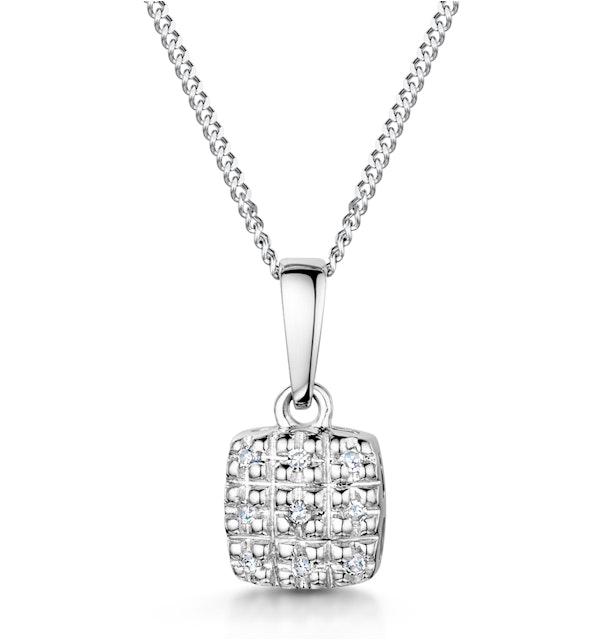 Stellato Collection Diamond Pendant in 9K White Gold - G4093 - image 1