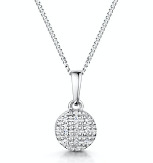 Stellato Collection Diamond Pendant in 9K White Gold - G4094
