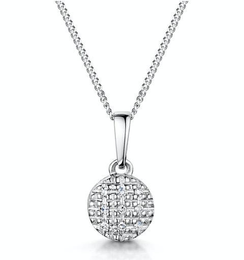 Stellato Collection Diamond Pendant in 9K White Gold - G4094 - image 1