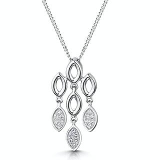 Stellato Collection Diamond Pendant 0.12ct in 9K White Gold - G4098