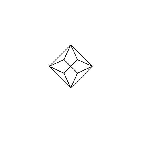 Amethyst Blue Topaz and Diamond Stellato Pendant in 9K White Gold - image 3