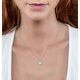 Stellato Collection Pearl and Diamond Pendant 0.06ct in 9K White Gold - image 2