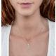 Stellato Collection Blue Topaz Diamond Necklace in 9K White Gold - image 2