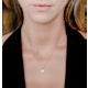 0.38ct Aquamarine and Diamond Stellato Necklace in 9K White Gold - image 2