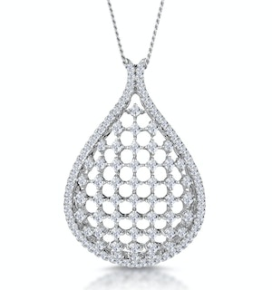 Masami Diamond Lattice Necklace 0.60ct Pave Set in 9K White Gold