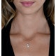 Diamond Entwined Stars Stellato Necklace in 9K White Gold - image 2