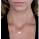 Stellato Heart Diamond Necklace in 9K Gold - image 2