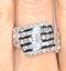 Big Fancy Ring 1.00CT Diamond 9K White Gold - image 2