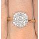 9K Gold Diamond Cluster Ring 0.50ct - E5607 - image 4