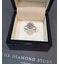 Diamond 0.10ct 9K White Gold Cluster Ring - E5887 - image 4