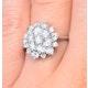 Diamond 0.10ct 9K White Gold Large Cluster Ring - E5888 - image 4