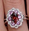 Garnet Pink Sapphire and Diamond Stellato Ring 0.14ct in 9K White Gold - image 4