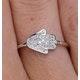 Stellato Collection Hamsa Diamond Ring 0.09ct in 9K White Gold - image 4