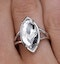Stellato Collection White Topaz and Diamond Ring in 9K White Gold - image 4